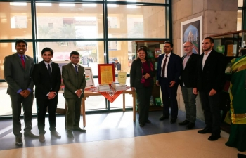 Inauguration of Know India Corner at the American University in Cairo (AUC)