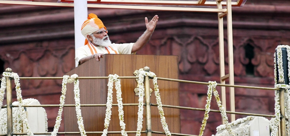 Prime Minister's address to the Nation from the ramparts of the Red Fort on the occasion of Independence Day of India