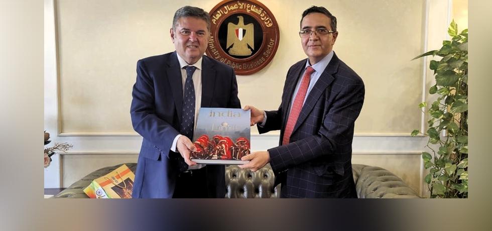 Ambassador Ajit Gupte called on Egypt's Minister of Public Business Sector, Dr. Hesham Tawfik on 3 June 2021