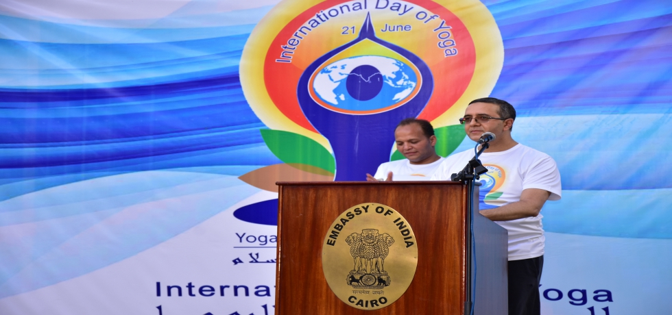 Embassy organised a Curtain Raiser for IDY 2021 at 'India House' on 19 June 2021 attended by diplomats and eminent Egyptian film personalities