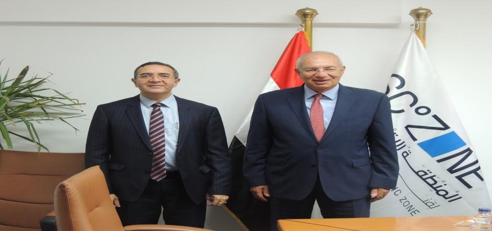 Ambassador Ajit Gupte called on Chairman, Suez Canal Economic Zone, Eng. Yehia Zaki on 4 July 2021