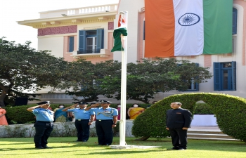 Flag Hoisting Ceremony at India House Cairo