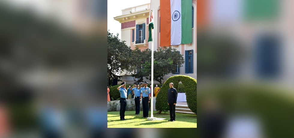 Ambassador Ajit Gupte hoisted the Indian Tricolor at 'India House' on 75th Independence Day on 15 August 2021