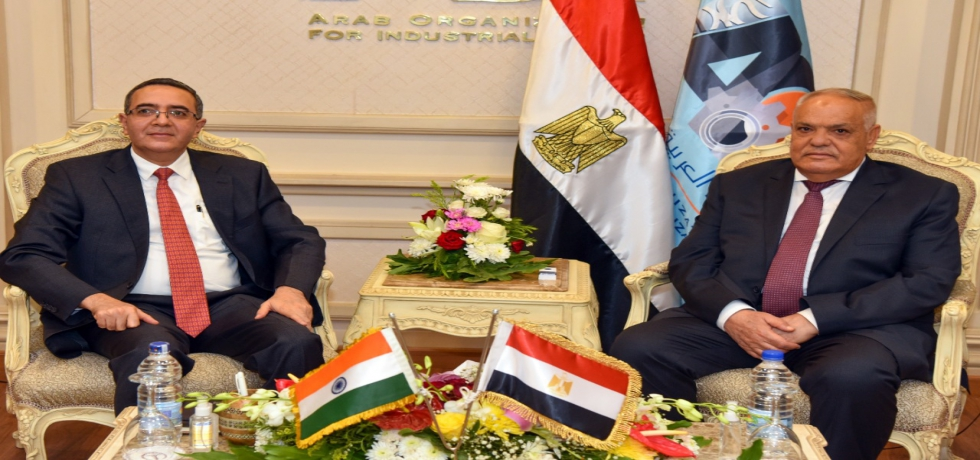 Ambassador Ajit Gupte met Lt Gen Abdul Moneim Al Tarras, Chairman of Arab Organization of Industrialization (AOI) on 29 August 2021